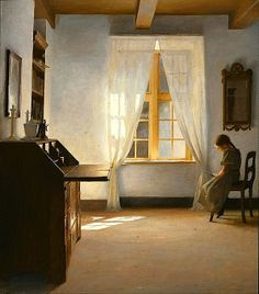 Peter Ilsted Girl Reading 1901 by Plum leaves, via Flickr