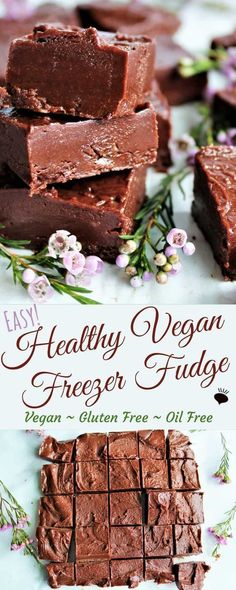 This healthy fudge is easy and delicious! This freezer fudge is made with only almond butter, agave, and cocoa, it's vegan, gluten free, refined sugar free, oil free and soy free too. It's unbelievable that something so easy can taste so good! Make it in minutes, then keep it in the freezer of those chocolate cravings! thehiddenveggies.com