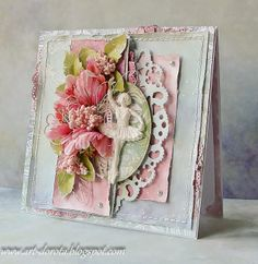 Dorota_mk: Kolorowo Pretty Cards, Cute Cards, Diy Cards, Scrapbooking, Scrapbook Cards, Mixed Media Cards, Shabby Chic Cards, Beautiful Handmade Cards, Heartfelt Creations