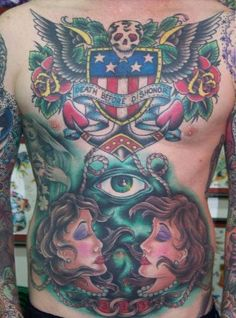 The dallas legend mr oliver peck of elm street tattoo for Peck tattoos for guys