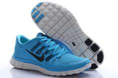 Nike Free 5.0 Menn Blå Svart €52.30