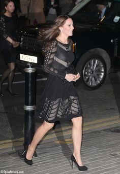 Kate wears Temperley Emblem Flare Dress to Action on Addiction Autumn Gala October 21 2014 Jeff Moore / Splash News