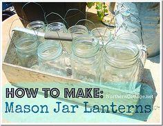 How to Make MASON JAR LANTERNS @Gretchen Burke Cottage