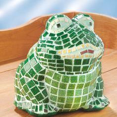"""Frosch mit Mosaik (Idee mit Anleitung – Klick auf """"Besuchen""""!) -"""