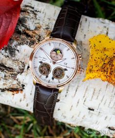 Carl von Zeyten CVZ0060RWH - Zegarek Durbach • Zegarownia.pl Omega Watch, Twins, Watches, Accessories, Wristwatches, Clock, Twin, Gemini, Ornament