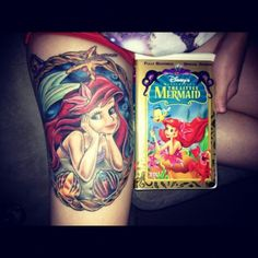 Little mermaid tattoo