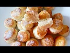el postre más rico y fácil, en minutos 2 ingredientes ❤️ N°97 - YouTube Pretzel Bites, Scones, Easy Meals, Bread, Sweet, Recipes, Watch, Youtube, Cake