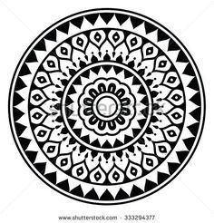 Mandala, Indian inspired round geometric pattern by RedKoala