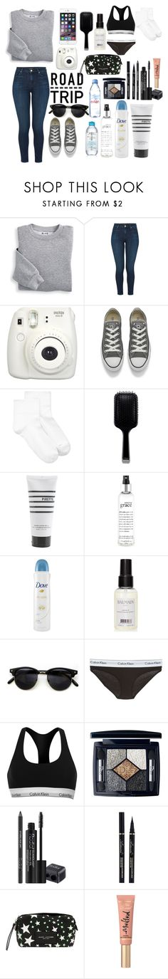 """""""#Road Trip"""" by disneylostprincess ❤ liked on Polyvore featuring Blair, J Brand, Fujifilm, Converse, Hue, GHD, Pirette, philosophy, Dove and Balmain"""