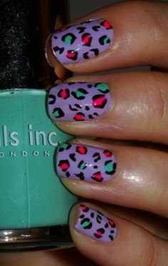 More leopard examples. Fancy Nails, Diy Nails, Cute Nails, Pretty Nails, Nail Art Design Gallery, Nail Art Designs, Mani Pedi, Manicure, Leopard Nail Art
