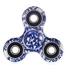 AdoreWe - Gamiss Blue and White Porcelain Patterned Plastic Fidget Spinner - AdoreWe.com