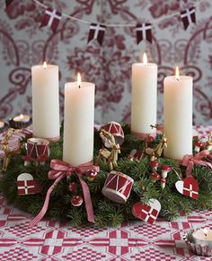 Klassisk adventskrans // Danish Christmas