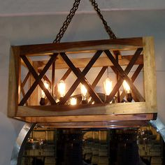 Hudson Goods Vintage Furniture Wooden Metal Crate Cage Light It Up Pinterest Crates And