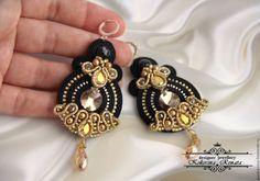 SUTASZ SOUTACHE Soutache Earrings, Big Earrings, Statement Earrings, Drop Earrings, Types Of Embroidery, Ribbon Embroidery, Shibori, Soutache Tutorial, Jewelery