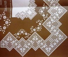 dantel-i şahane Crochet Lace Edging, Crochet Borders, Irish Crochet, Crochet Doilies, Filet Crochet Charts, Crochet Doily Diagram, Crochet Tablecloth, Crochet Flowers, Knit Crochet