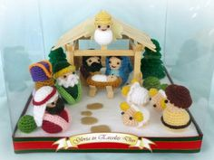 Crochet Christmas Decoration - The Nativity. $75.00, via Etsy.