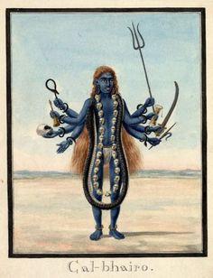 Hindu Cosmos Kala Bhairava 19th century. Patna, Bihar, India. (via The British Museum)