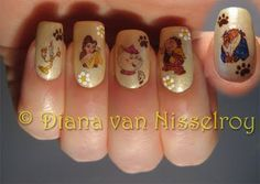 Beauty and the Beast nails. @Kristine Balcom-reed Riobo please do this for me for Miss Teen <3