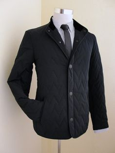Giorgio Armani Slim-Fit Black Quilted Jacket | Luxury & Vintage Madrid