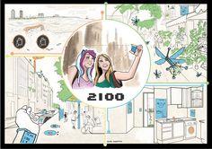 NAME: Alba Iniesta Saez WEB: http://alinsa.blogspot.com COUNTRY: España SOCIAL: Fb : facebook.com/alinsa19 Tw: twitter.com/alinsa_ TITLE: Smart World 2100 TECHNIQUE: Photoshop YEAR: 2015 DESCRIPTION: Las nuevas tecnologías se han desarrollado ayudando a mejorar la ecología (ej: abejas mecánicas). La guía de color representa la tecnología, medioambiente, recursos ecológicos y energías renovables