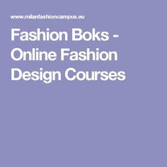 Fashion Boks - Online Fashion Design Courses
