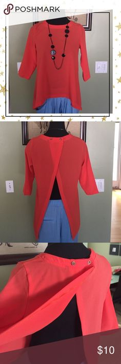 🍒 Red top 🍒 {IRYB10} Open back. Like new Tops Tunics