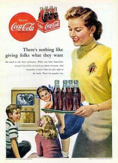 Coca-Cola...for a nickle.  If we could say the whole lord's prayer in first grade the teacher would buy us a coke.  Talk about indoctrination - consumerism and religion!