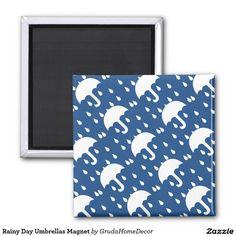 Rainy Day Umbrellas Magnet