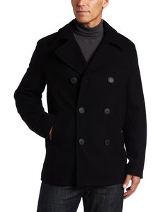 Levi's Men's Wool Melton Peacoat: Clothing