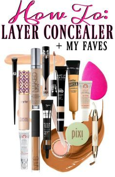 How to layer concealer the best concealers for oily skin, dry undereye and no creasing.