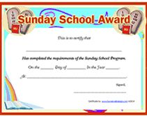 Free printable bible award certificate church pinterest 10 commandments free printable certificate of completion sunday school yadclub Choice Image