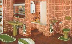 Yellow bathroom | AWANTWANT | Pinterest | Salle de bains, Années 70 ...
