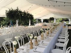 Our beautiful Wedding Marquee at Athol Hall, Mosman. 10m x 25m marquee with 10m x 5m wooden flooring