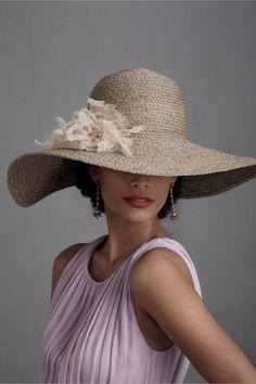 Tranquil Day Hat at BHLDN -- big fun hat!