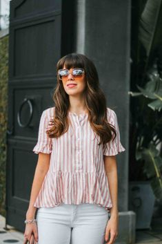 Fashion Trends : Seeing Stripes for Spring, Barefoot Blonde Work Fashion, Fashion 2017, Fashion Outfits, Fashion Tips, Fashion Design, Trendy Fashion, Womens Fashion, Fashion Websites, Cheap Fashion