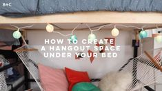 When it comes to dorm living, lofted beds are where it's at. Here, we made the most of this dorm space by creating a cozy hangout zone for studying, show bingeing, and weekend lounging. 🤗💕 Get the full DIY tutorial and learn more about our Make It Over My New Room, My Room, Diy For Room, Room Decor Diy For Teens, Diy Room Decor For College, Diy Room Decor Videos, Cute Diy Room Decor, Diy Furniture Videos, Diy Dorm Decor