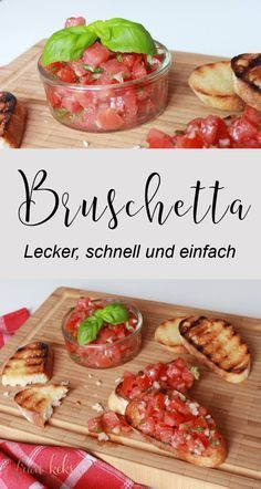 Bruschetta always works! Whether for grilling, as a light Bruschetta always works! Whether for grilling, as a light summer dish or einf … Bruschetta always works! Whether for grilling, as a light summer dish or einf … - Italian Recipes, Vegan Recipes, Snack Recipes, Dinner Recipes, Paleo Vegan, Dip Recipes, Light Recipes, Brunch Recipes, Smoothie Recipes
