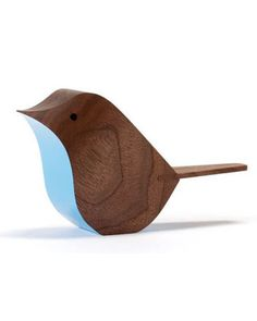 Birds | Walnut | Blue | Matt Pugh Design