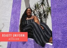 My Beauty Uniform: Allison Rhone Beauty Uniforms, Cup Of Jo, Housewives Of New York, Queen Latifah, Putting On Makeup, Instagram Influencer, Beauty Tutorials, Trends, My Beauty