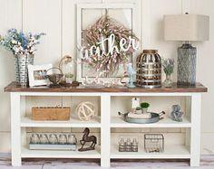 mesa de entrada de casa de campo rústica mesa de sofá mesa