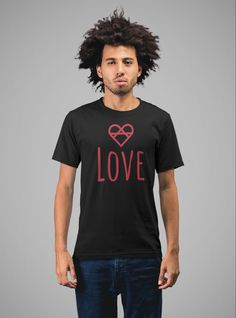 #love #shirt #tshirt #loveyourself Love Wall, Love Clothing, Love T Shirt, Man In Love, Black Hoodie, Red And White, Hoodies, Tank Tops, Shirts