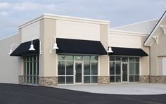 Simple black fabric awning... classic