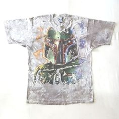 Vintage 90s Star Wars Boba Fett Bounty Hunters Liquid Blue T-Shirt   http://www.ebay.com/itm/-/152516284937?  #Vintage #90s #StarWars #BobaFett #BountyHunters #LiquidBlue #TieDyed #TShirt #DarthVader #HanSolo #Jedi #Force #yoda #LukeSkywalker #jedimaster #theforce #starwarsmovies #darkside #lucasfilm #disney #rogueone #stormtrooper #sith #maytheforcebewithyou