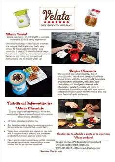 Everything you need to know so you can have FUN with fondue & share Velata with your family & friends!