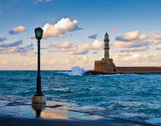 lighthouse at Chania, Crete