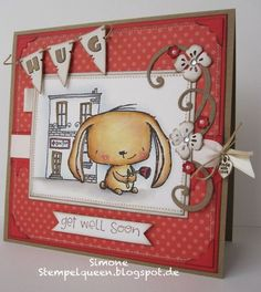 Simone Schwagler - Rosie and Doctors Office Card; I LOVE LOVE LOVE Stacy Yacula's designs.....And this card is too cute for words!!