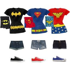 You can be a superhero too! Check out these cute costume t-shirts and matching backsacks!