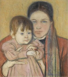 The Athenaeum - The Artist's Wife and Daughter (Stanislaw Wyspianski - )