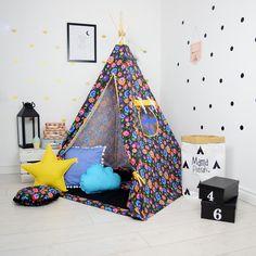 Teepee Set Kids Play Teepee Tent Tipi Kid Playhouse Wigwam Zelt Tente- Black FolkLove by  sc 1 st  Pinterest & Play Tent Lace Teepee Tipi White Teepee Tent Teepee Enfant ...