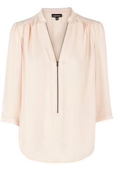 Tops | Pink Zip Front Blouse. | Warehouse
